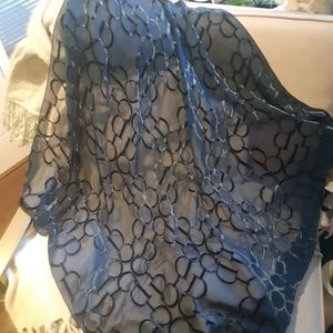 Christian Dior Navy Ink silk square scarf